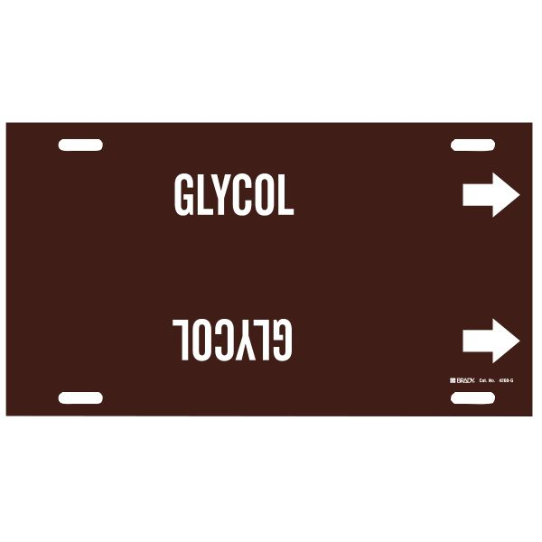 Brady 4200-G   Pipe Markers - GLYCOL