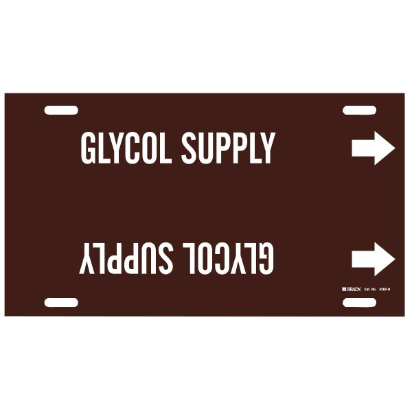 Brady 4202-H   Pipe Markers - GLYCOL SUPPLY