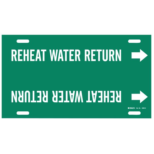 Brady 4359-G  Reheat Water Return Pipe Markers