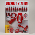 Large Lockout Station With Components & 12 Brady S