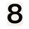 Brady 8220-8   x 4 inches Black '8' Series Number - Letter Card - 10/Package