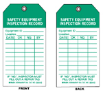 Safety Equipment Tags