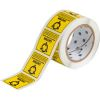 Brady SL-4 2 inches  x 2 inches Black on Yellow B-122 Tamper-Evident Paper Thermal Transfer Labels - 500/Roll
