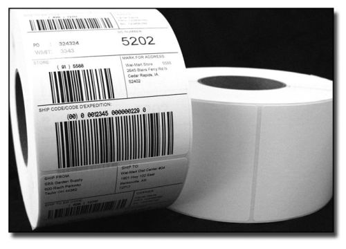 HONEYWELL 200X025ColdLabels-10 2 inches  x 0.25 inches White Plate Labels Thermal Transfer Labels - 10000/Roll
