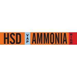 Brady 145848  AMMONIA Signs Pipe Markers