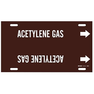Brady Acetylene Gas Strap-On Pipe Markers