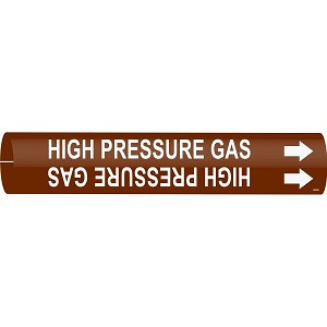 Brady High Pressure Gas Pipe Markers