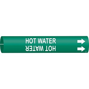 Brady Hot Water Pipe Markers