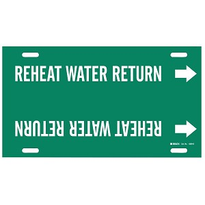 Brady Reheat Water Return Pipe Markers
