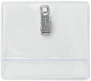 BRADY PEOPLE 504-T1LB Clear data-credit card size Badge Holders